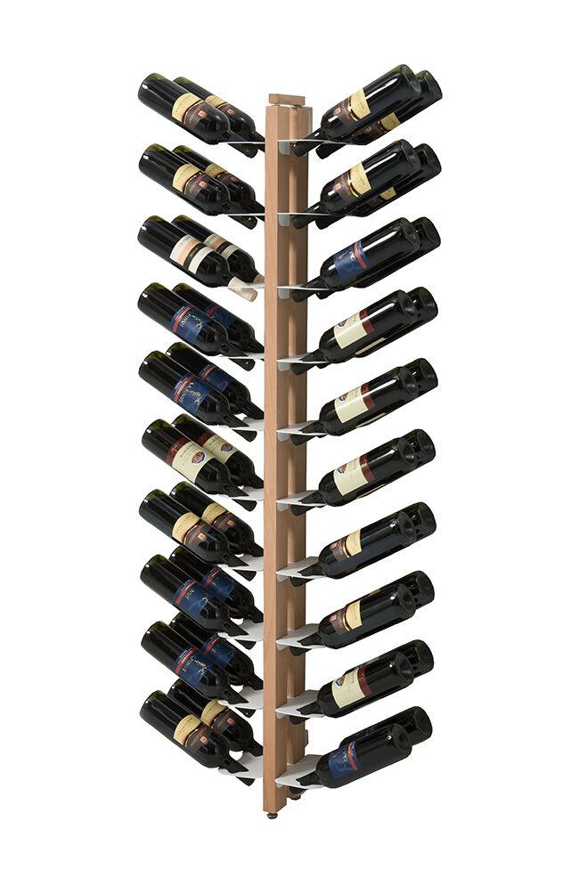 LE ZIE DI MILANO porte-bouteilles sur pied double face fixé au mur ZIA GAIA (H 156 cm / Naturel - Hêtre massif et acier)