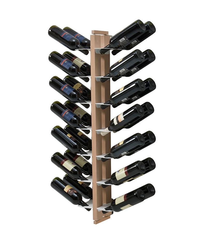 LE ZIE DI MILANO porte-bouteilles double face fixé au mur ZIA GAIA (H 112 cm / Naturel - Hêtre massif et acier)