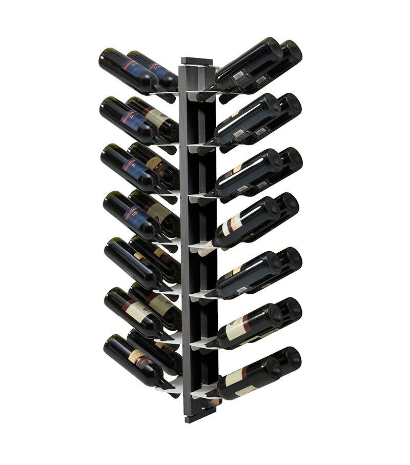 LE ZIE DI MILANO porte-bouteilles double face fixé au mur ZIA GAIA (H 112 cm / Noir - Hêtre massif et acier)