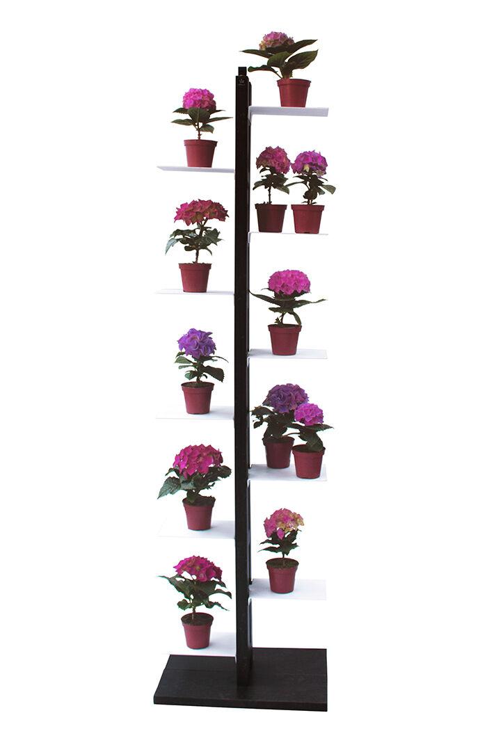 LE ZIE DI MILANO porte-plantes ZIA FLORA (H 158 cm / Noir - Hêtre massif et acier)