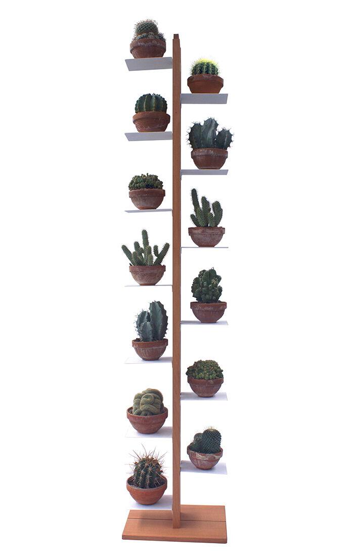LE ZIE DI MILANO porte-plantes ZIA FLORA (H 204 cm / Naturel - Hêtre massif et acier)