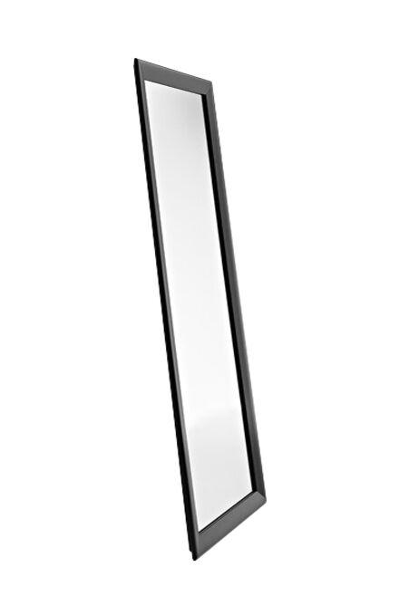 HORM miroir mural ou sur pied BLACK YUME (201 x H 73 cm - Aluminium verni noir et verre)
