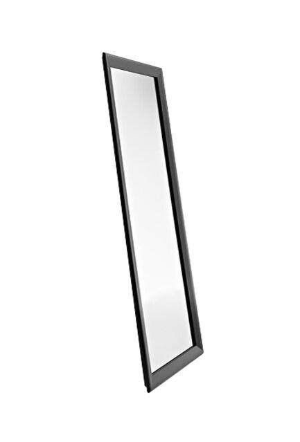 HORM miroir mural ou sur pied BLACK YUME (137 x H 73 cm - Aluminium verni noir et verre)