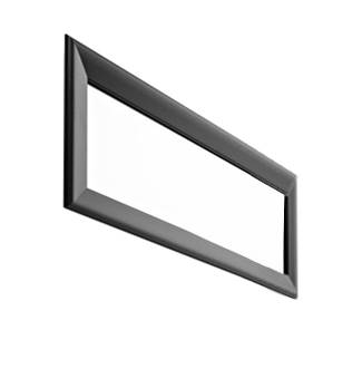 HORM miroir mural ou sur pied BLACK YUME (73 x H 41 cm - Aluminium verni noir et verre)