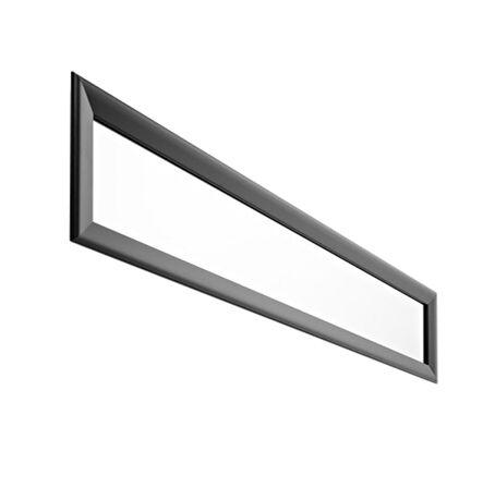 HORM miroir mural ou sur pied BLACK YUME (137 x H 41 cm - Aluminium verni noir et verre)