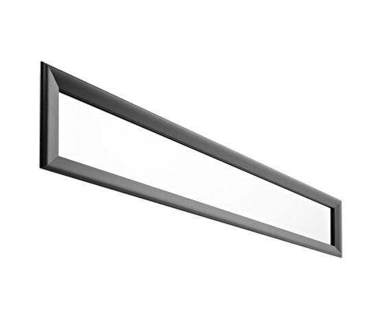 HORM miroir mural ou sur pied BLACK YUME (201 x H 41 cm - Aluminium verni noir et verre)
