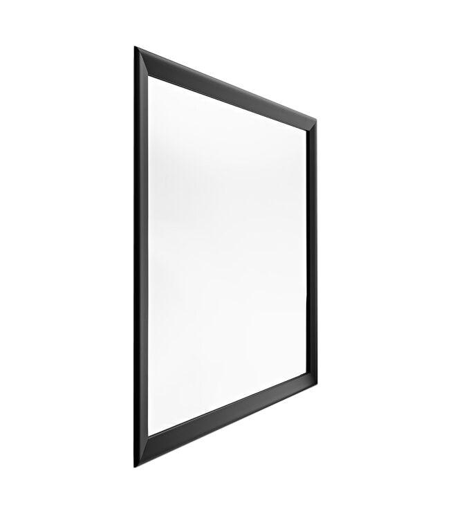 HORM miroir mural ou sur pied BLACK YUME (73 x H 73 cm - Aluminium verni noir et verre)