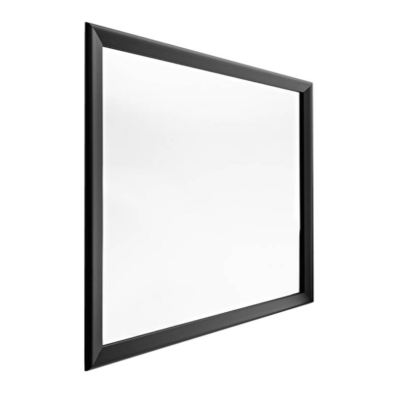 HORM miroir mural ou sur pied BLACK YUME (105 x H 105 cm - Aluminium verni noir et verre)