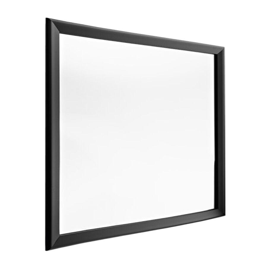 HORM miroir mural ou sur pied BLACK YUME (137 x H 137 cm - Aluminium verni noir et verre)