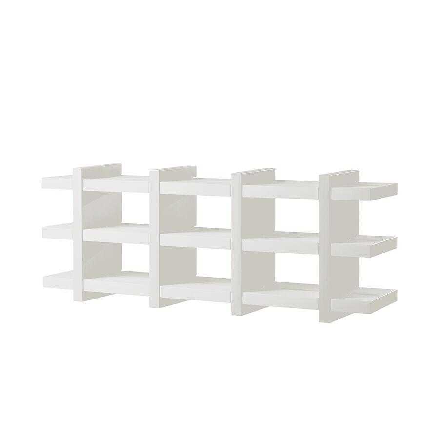SLIDE bibliothèque BOOKY 4 (Blanc lait - Polyéthylène)