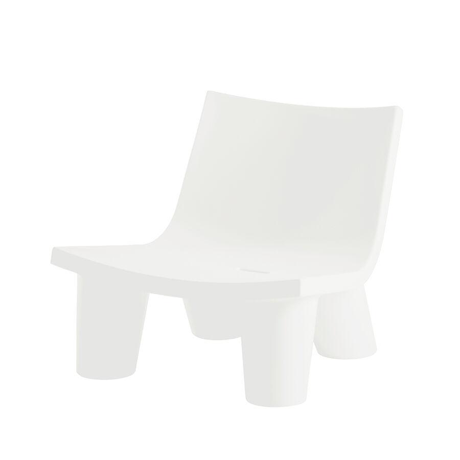 SLIDE fauteuil LOW LITA (Blanc lait - Polyéthylène)