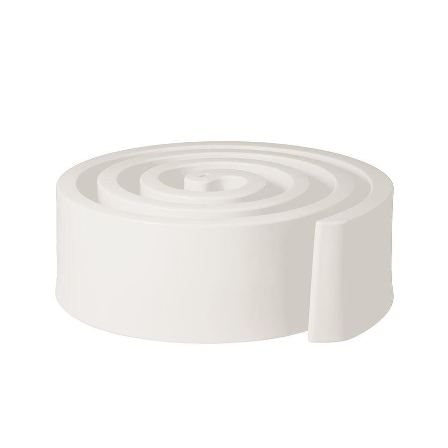 SLIDE pouf SUMMERTIME (Blanc lait - Polyéthylène)