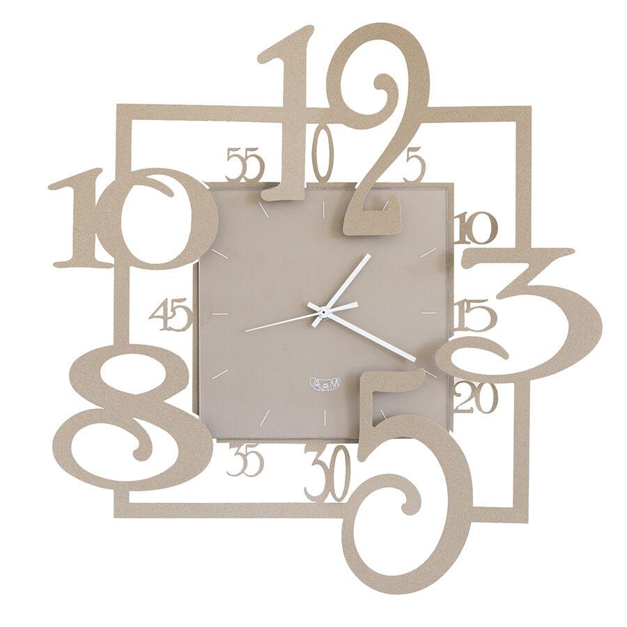 ARTI E MESTIERI horloge murale AMOS (Beige - métal verni et verre)