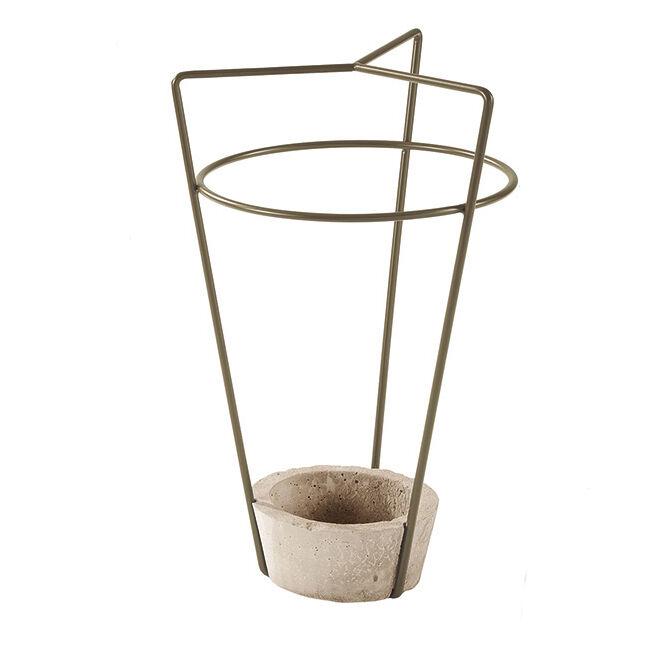 MEME DESIGN porte-parapluie AMBROGIO (Boue - métal et ciment)