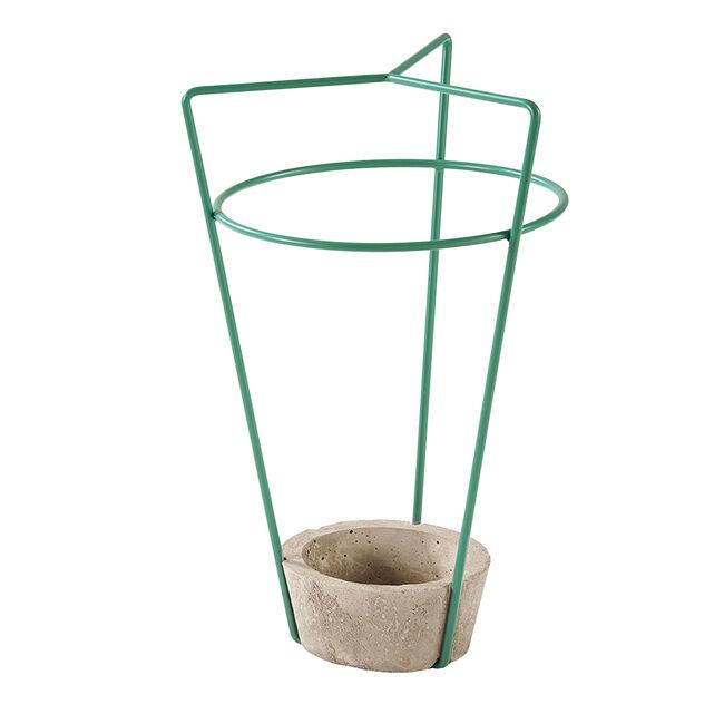 MEME DESIGN porte-parapluie AMBROGIO (Sauge - métal et ciment)