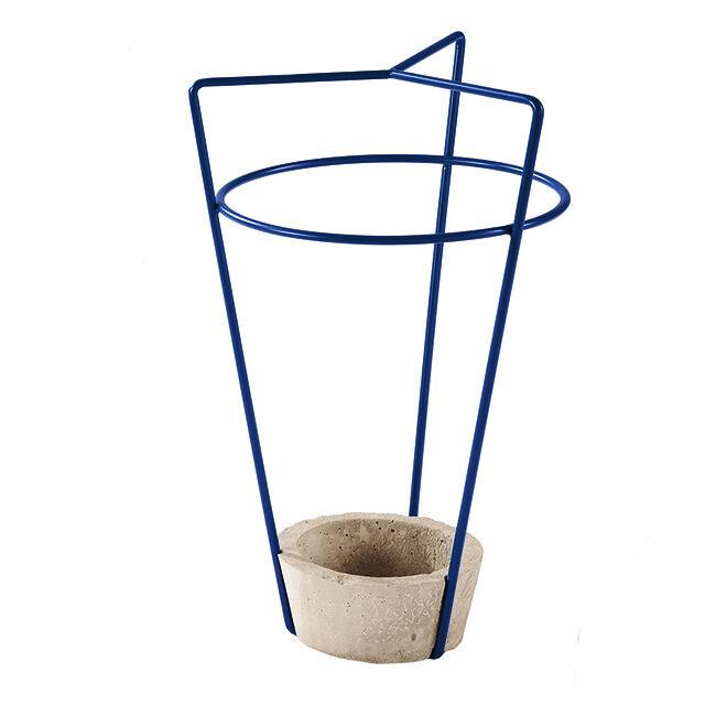 MEME DESIGN porte-parapluie AMBROGIO (Bleu marine - métal et ciment)
