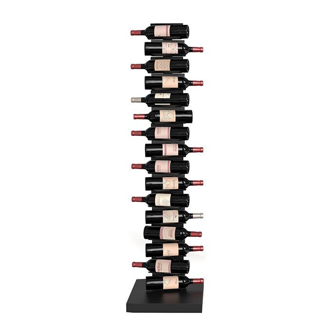 OPINION CIATTI porte-bouteilles vertical autoportant PTOLOMEO VINO H 155 cm (Structure noire, base noire - Structure, étagères et base en fer [...]