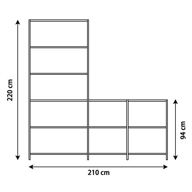 KRIPTONITE système autoportant K3+ P 36 cm COMPOSITION 2 ALUMINIUM