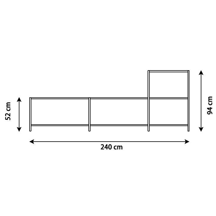 KRIPTONITE système autoportant K3+ P 36 cm COMPOSITION 3 BLANC OPAQUE