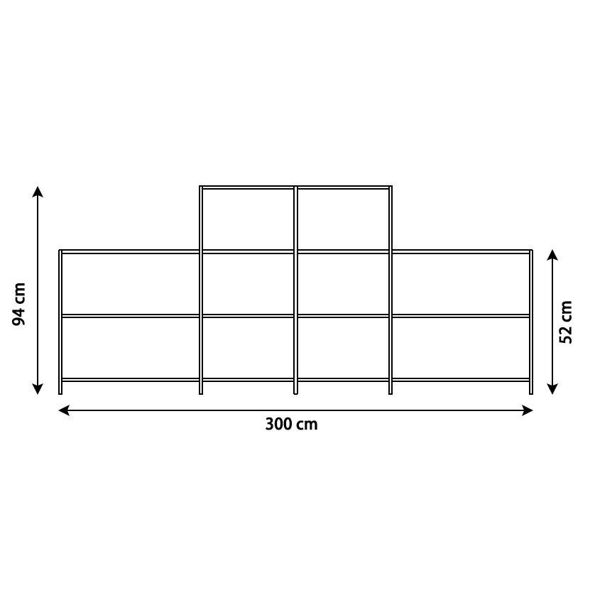 KRIPTONITE système autoportant K3+ P 36 cm COMPOSITION 5 NOIR