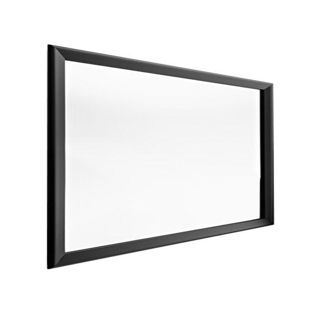 HORM miroir mural ou sur pied BLACK YUME (105 x H 73 cm - Aluminium verni noir et verre)