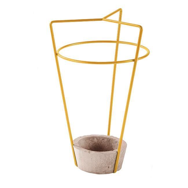 MEME DESIGN porte-parapluie AMBROGIO (Jaune Maya - métal et ciment)