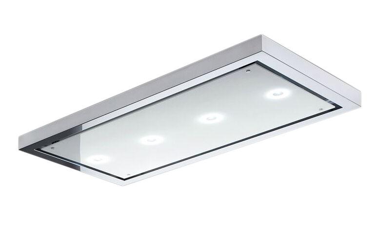 AIRONE hotte au plafond AMADEUS (120 cm - acier et verre)