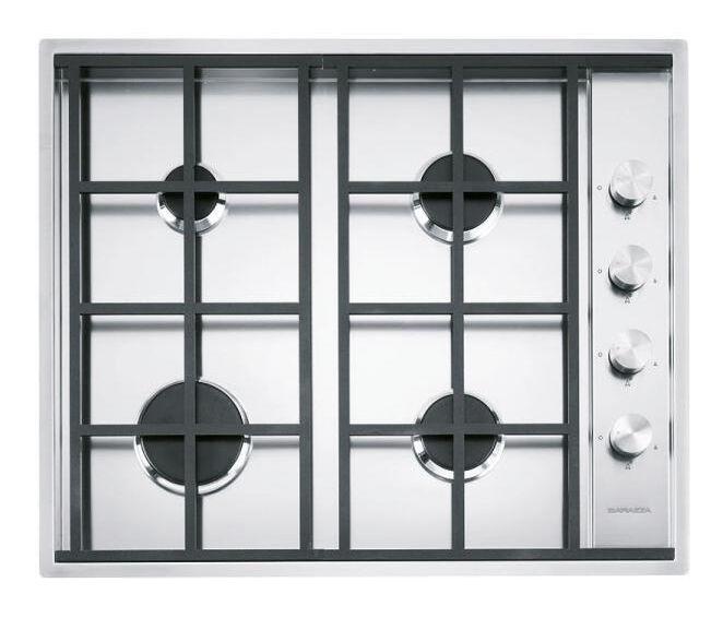 BARAZZA plaque de cuisson LAB 1PLB4 (Inox - Grilles et bruleurs en fonte)