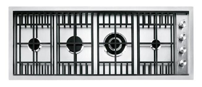 BARAZZA plaque de cuisson LAB 1PLB3T (120 cm - Grilles et bruleurs en fonte)