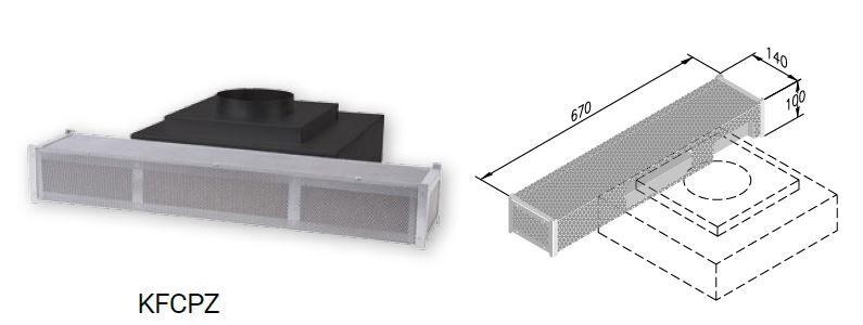 AIRONE filtre à charbon professionnel sur plinthe KFCPZ (Filtre à charbon - -)