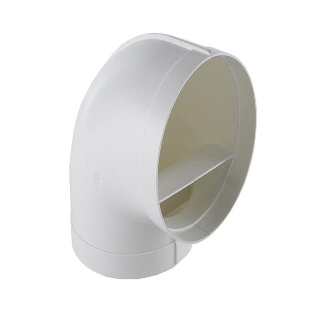 ELICA raccord circulaire courbe 90° KIT0121006 pour hotte à évacuation NIKOLATESLA (Blanc - plastique)