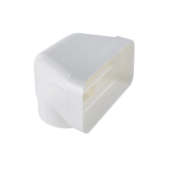 ELICA raccord vertical circulaire rectangulaire KIT0121007 pour hotte à évacuation NIKOLATESLA (Blanc - plastique)