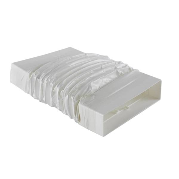 ELICA raccord horizontal courbe flexible KIT0121017 218x55 mm pour hotte en recyclage NIKOLATESLA (Blanc - plastique)