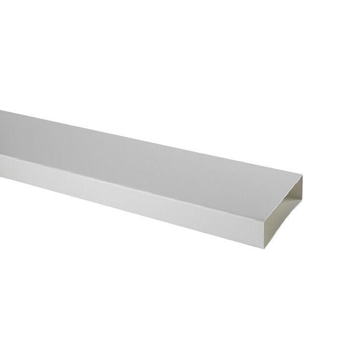 ELICA tuyau rectangulaire KIT0121013 218x55x1000 mm pour hotte en recyclage NIKOLATESLA (Blanc - plastique)