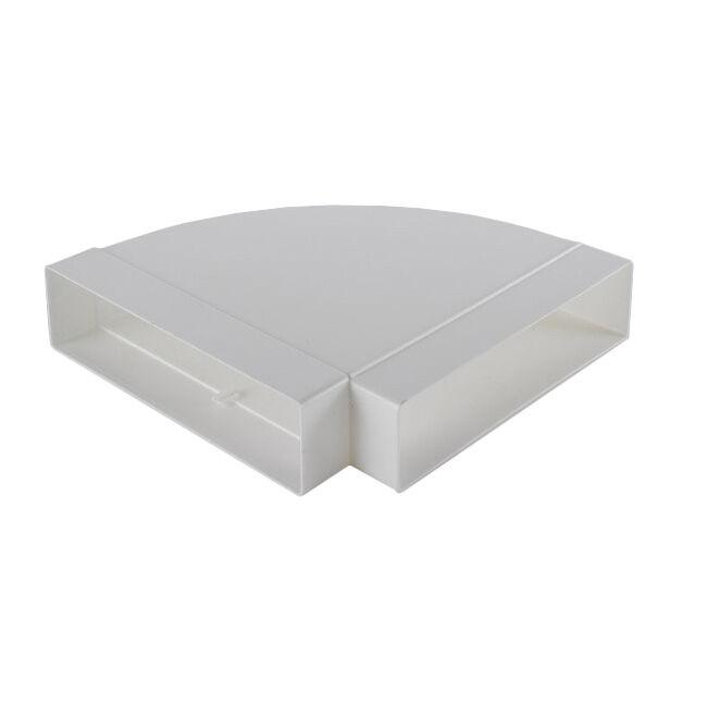 ELICA raccord horizontale courbe 90° KIT0121016 218x55 pour hotte en recyclage NIKOLATESLA (Blanc - plastique)
