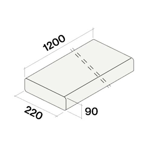 FALMEC gaine plate rigide KACL.352 ref. 115980 (220x90x1200 mm - -)