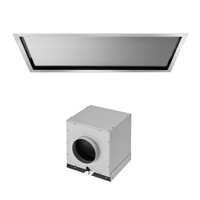 FALMEC hotte au plafond NUBE 90 cm (Inox avec moteur sous-combles da 1300 m3/h - Acier)