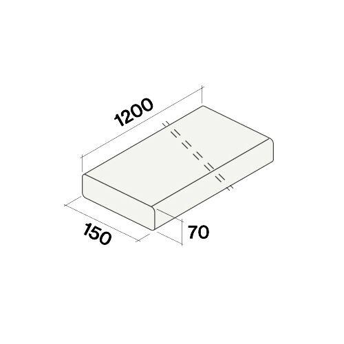FALMEC gaine plate rigide KACL.381 (150x70x1200 mm - -)