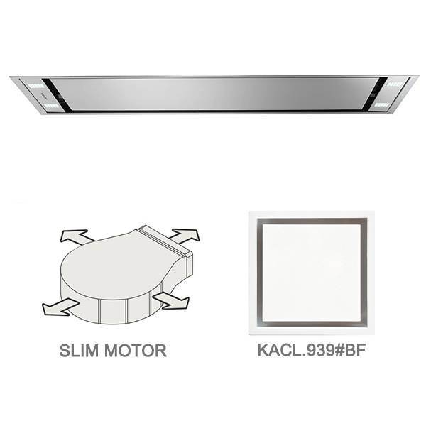 FALMEC hotte au plafond STELLA 120 cm avec kit filtrant (120 cm - Acier Inox)