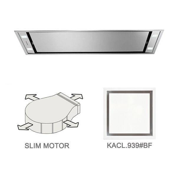 FALMEC hotte au plafond STELLA 90 cm avec kit filtrant (90 cm - Acier Inox)