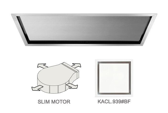 FALMEC hotte au plafond NUBE 90 avec kit filtrant (Inox - Acier)