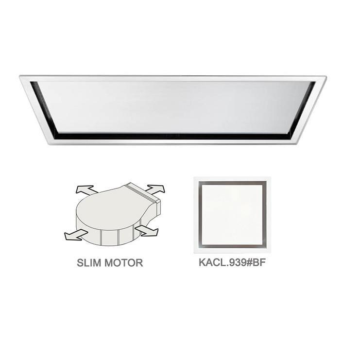 FALMEC hotte au plafond NUBE 90 BLANC avec kit filtrant (Blanche - Acier)
