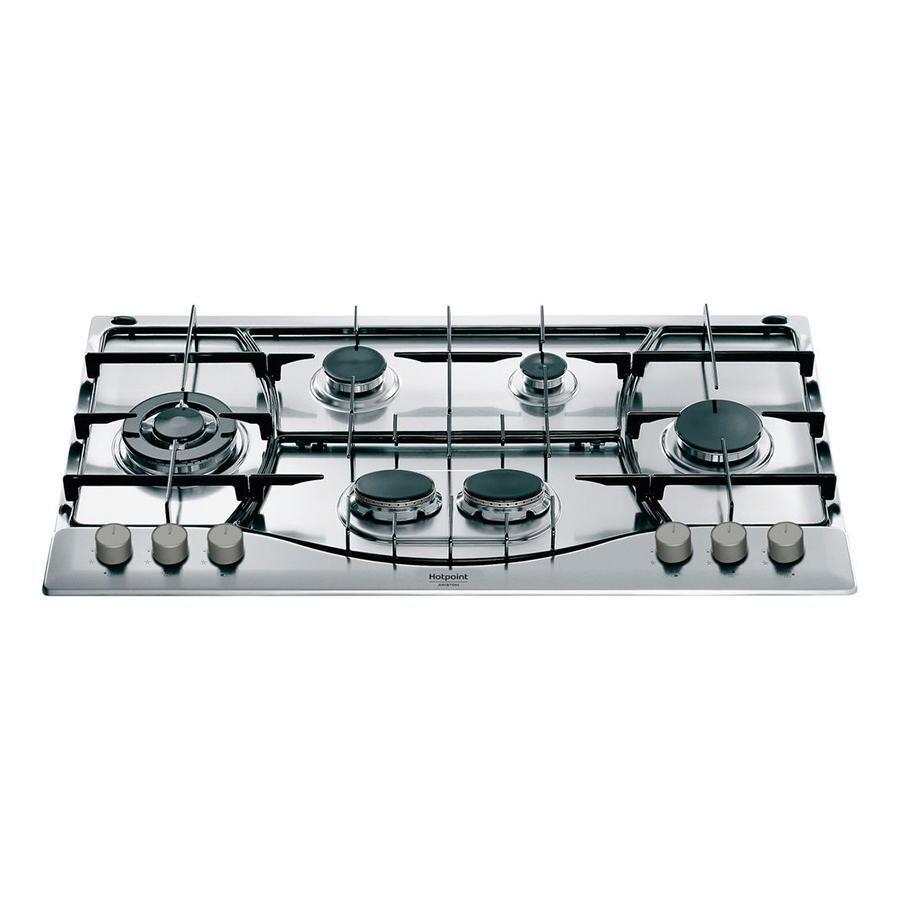 Hotpoint ARISTON plaque de cuisson à gaz de 90 cm PHN 962 TS/IX/HA PHN962TSIXHA avec 6 brûleurs (Inox - Acier)