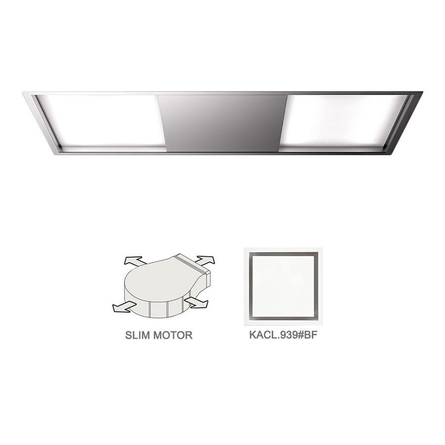 FALMEC hotte au plafond SKEMA 120 avec kit filtrant (Inox - Acier)