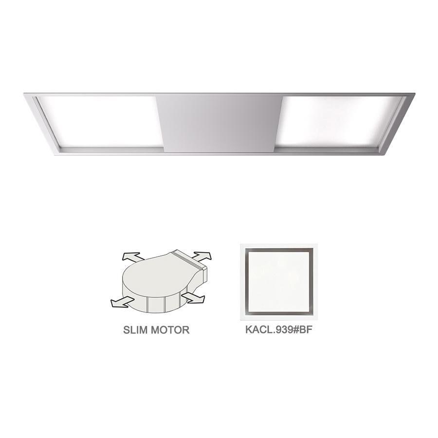 FALMEC hotte au plafond SKEMA 120 BLANC avec kit filtrant (Blanche - Acier)