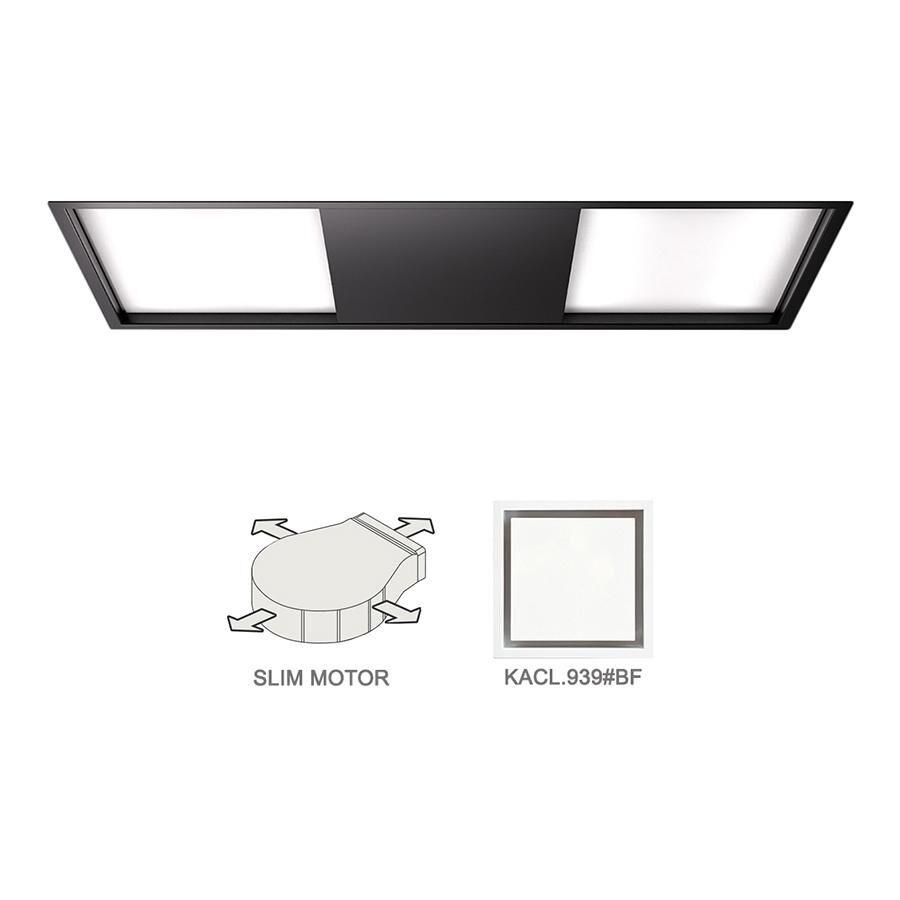FALMEC hotte au plafond SKEMA 120 NOIR avec kit filtrant (Noir - Acier)