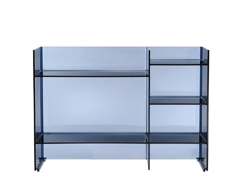 KARTELL by Laufen meuble de bain SOUND-RACK (Bleu coucher de soleil - PMMA transparent)