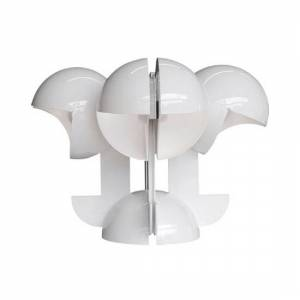 MARTINELLI LUCE lampe de table RUSPA 4 (Blanc - Aluminium verni)