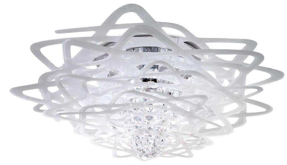 SLAMP lampe au plafond plafonnier AURORA (Blanc - Cristalflex®)