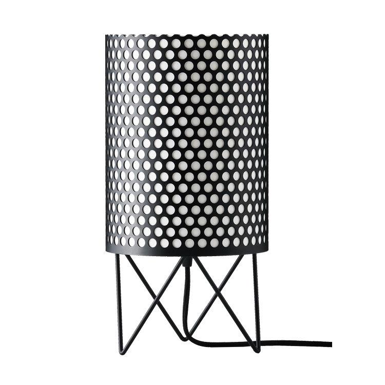 GUBI lampe de table PEDRERA ABC (Noir - Métal)